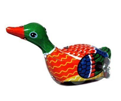 Paddling Duck, Metal Animal Winds Up, Steel Tin Toy Collection