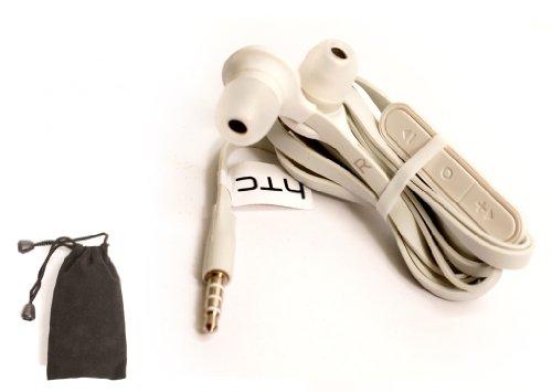 Rc E190 Original Oem Htc Premium 3.5Mm White Stereo Headphones Headset Earphones Ear Bud ,Mic For Htc Android Phone/Iphone/Ipad/Samsung Galaxy Tab