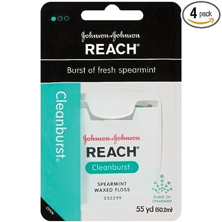 Amazon - 4 x Reach Clean Burst Dental Floss, Waxed, 55yards - $3.69