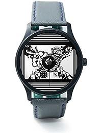 BigOwl Virtual World Analog Men's Wrist Watch 5094054526-RB1-B-GRY