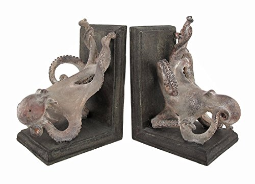 Squiggly Armed Octopus Bookends Set of 2