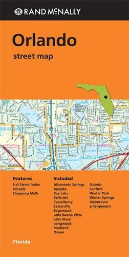 Folded Map Orlando FL Streets