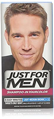 Just For Men Shampoo-in Hair Color Light-medium Brown H-30 1 Application 1 Pack by Combe Incorporated