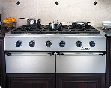Dacor Epicure EG486SCHNG 48″ Gas Rangetop with 6 Sealed Burners, Continuous Grates, Illumina Burner Controls and Stainless Steel Chrome Trim Finish: Natural Gas