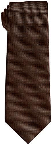 (フェアファクス)FAIRFAX ソリッドバスケット織ネクタイ SLD01 マホガニー F