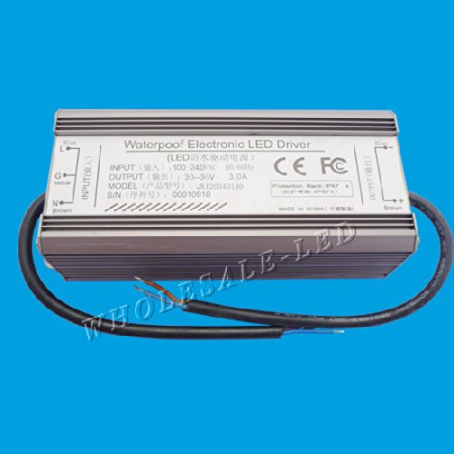 Led World 100W Ip67 Waterproof Led Driver For 100W High Power Led Light Output Dc30-36V 3A
