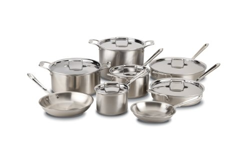 All-Clad Brushed Stainless D5 14-Piece Cookware Set