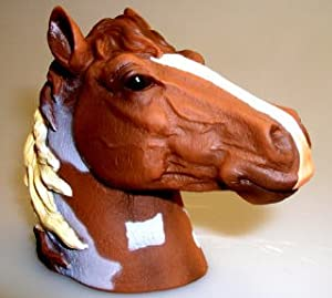 Paint Horse Head Trailer Hitch Ball Cover