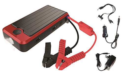 PowerAll PBJS16000R Rosso Red/Black Portable Power Bank and Lithium Jump Starter (Portable Power Plant compare prices)