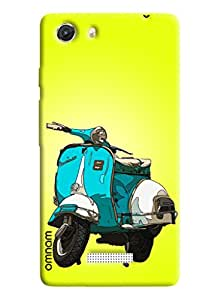 Omnam Cartoon design scooter with yellow effect for Micromax Unite 3