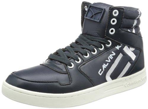 Calvin Klein Jeans Sneaker Alta PERICO SHINY NYLON/SMOOTH, Blu (Midnight)), 39.5