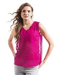 Prym Women's Body Blouse Shirt (1011516502_Fuschia_Large)