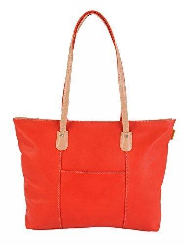 David Jones Leggero Sacca Impugnature Spalla Borsa Shopping - 4 Colori 3849 / 2 - Rosso, large, large
