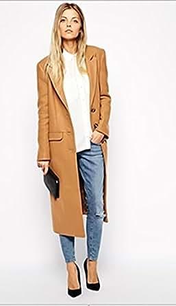 ": WOMEN WINTER ASOS Midi Coat IN CAMEL COLOR"" LARGE"" US:12: Clothing"