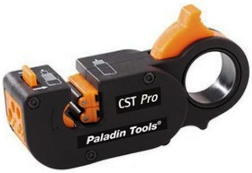 Paladin Tools 1281 CST Pro Coax Stripper 3 Level, Orange Cassette .327/.146