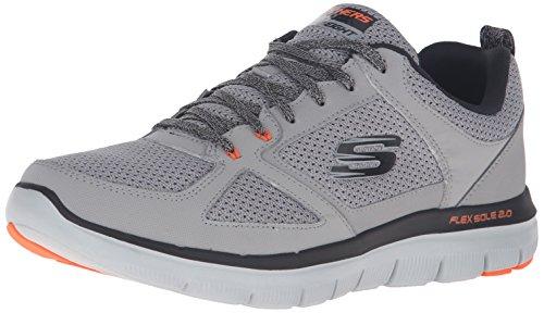skechers-sport-mens-flex-advantage-20-oxford-light-gray-orange-12-m-us
