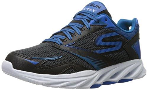 Skechers Performance Men's Go Run Vortex Spiral Running Shoe, Black/Blue, 11.5 M US