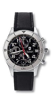 Victorinox Swiss Army Men's 241193 Ambassador Clous De Paris Black Leather Automatic Chronograph Watch by Victorinox Swiss Army