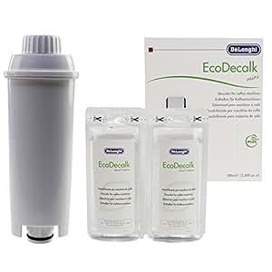 Delonghi Eco Nokalk Espresso Coffee Maker Natural Descaler & Water Filter 200ml: Amazon.co.uk ...
