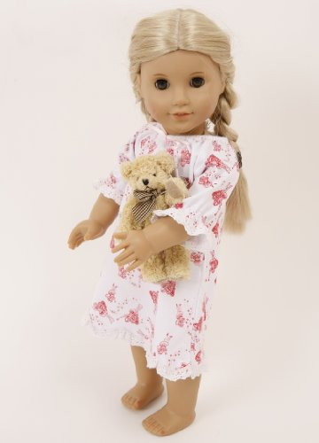 SMALL DOLLS FAIRY NIGHTDRESS[14-18 INS DOLLS AND BEARS]BEAR AND SLIPPERS NOT INCLUDED
