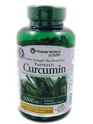 Vitamin World Turmeric Curcumin 1000mg, 120 Capsules