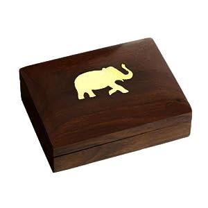 Cigarette Holder Case Wood Box Indian Decor