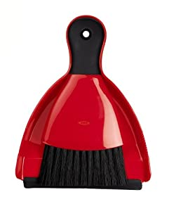 OXO Good Grips Mini Dust Pan and Brush, Red