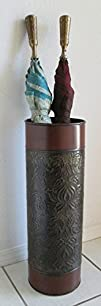 Umbrella Holder Stand Embossed Iron EM7WB with weighted base