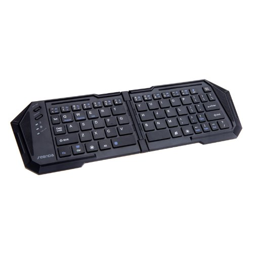Wireless Bluetooth 3.0 Folding Keyboard With Stand For Ios Android Windows Laptop Computer Up To 10M
