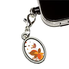 buy Fall Changing Leaves And Singing Bird Mobile Cell Phone Jack Anti-Dust Oval Charm Fits Iphone Ipod Galaxy