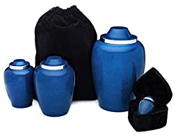 UrnConcern® Coventry Cobalt Blue Cremation Urn, 10\
