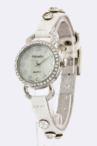 Karmas Canvas Fabric Strap Watch (White)