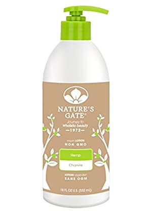 Nature's Gate Hemp Moisturizing Lotion for Dry/Dehydrated Skin