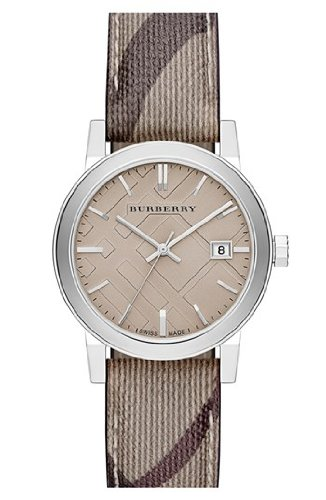 Burberry Smoke Check Strap Watch, 34mm BU9118 Women