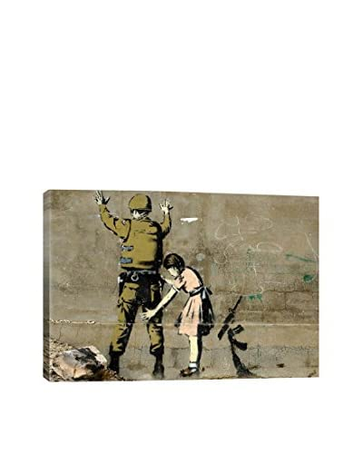 Banksy Girl And A Soldier Giclée On Canvas