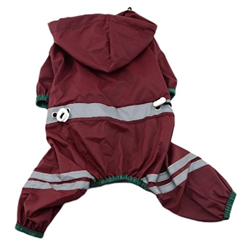 Haustier Sturm Hund RegenJacke Regenmantel mit Kapuze Wasserdicht Cat Pet Jumpsuit -