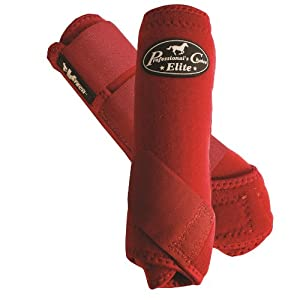 PROFESSIONAL'S CHOICE ★ ELITE VENTECH SET OF 4 SMB BOOTS ★ ALL SIZES & COLORS (Crimson Red, Medium)