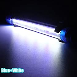 Aquarium Waterproof LED Light Bar Fish Tank Submersible Downlight Tropical Aquarium Product 5W 50CM - Blue & White