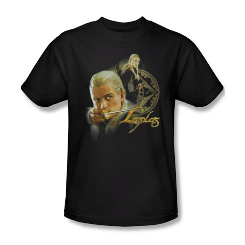 The Lord of The Rings Movie Legolas Stare with Bow Adult T-Shirt Tee