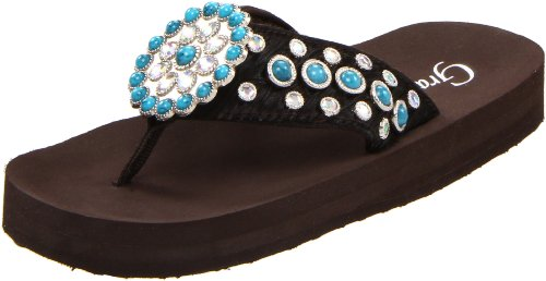 Grazie Women'S Miley Flip Flop,Brown,6 B Us front-555022