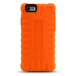 """iPhone 6 (4.7"""") Case, MarBlue ToughTek for iPhone 6 w/Anti Shock Screen Protector - Orange"""