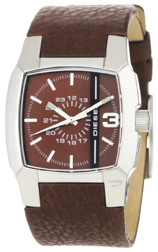 Diesel Watches Men's Brown Strap With Black Stripe (Brown)