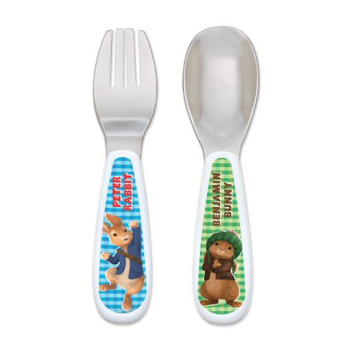 Gerber Graduates Utensil Fork And Spoon Set, Peter Rabbit