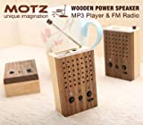 Motz Tiny Wooden Power Speaker (Built-in FM Radio & Support for USB Flash D ....