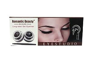 Romantic Beauty long lasting gel eyeliner (smudge-proof) Black and Brown