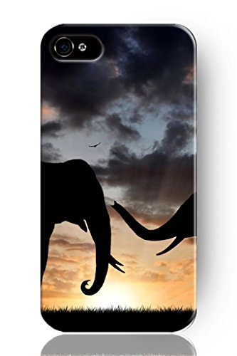 Sprawl New Fashion Design Hard Skin Case Cover Shell For Mobilephone Apple Iphone 4 4S 4G Elephant In Thunderstorm