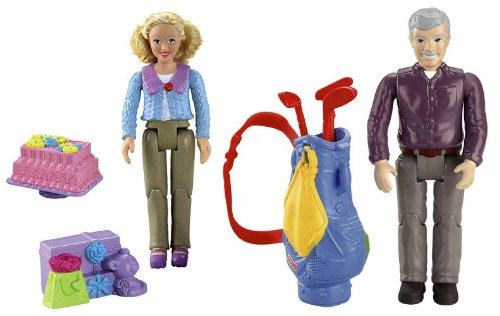 Fisher Price Loving Family Dollhouse GRANDMA AND GRANDPA Caucasian