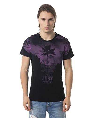 JUST CAVALLI Beachwear Camiseta Manga Corta C44 Negro / Azul