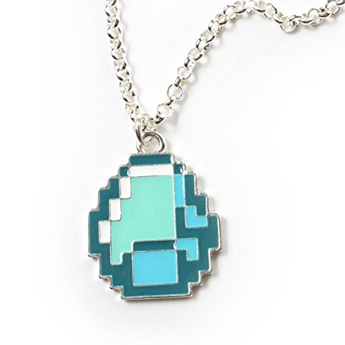 Minecraft Diamond Pendant Necklace (Cool Minecraft Stuff compare prices)