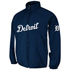 Detroit Tigers Authentic Triple Climate 3-In-1 On-Field Jacket by Majestic Athletic